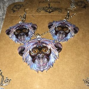 Jewelry - 🔴Free Colorful monkey earrings and necklace set🔴